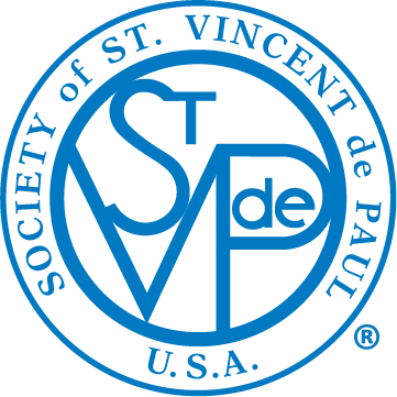 St Vincent de Paul Logo Blue